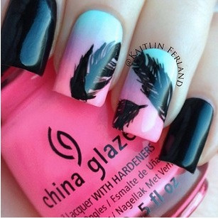 #nail #art #black #like