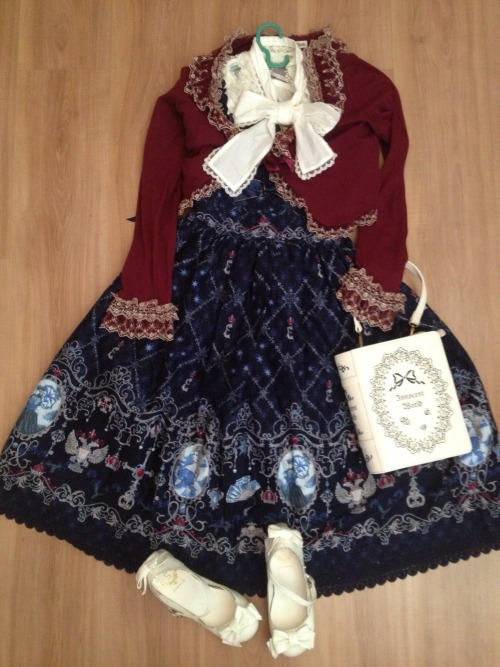 whatifoundinyoureyes:  Outfit for the future~ Bolero and bag: Innocent World Jsk:AatP Blouse: Angelic Pretty Shoes:Offbrand