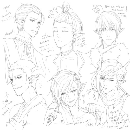 "playing with hairstyles  ""ヽ(´▽`)ノ"""