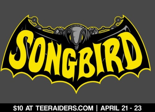 """Songbird"" is still up at TeeRaiders.com for 2 more days for only $10! Don't miss out on this awesome Bioshock tee!"