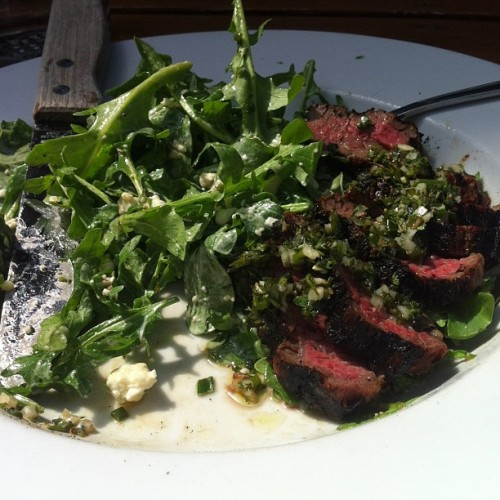 Amazing steak salad (at Produce Row Cafe)