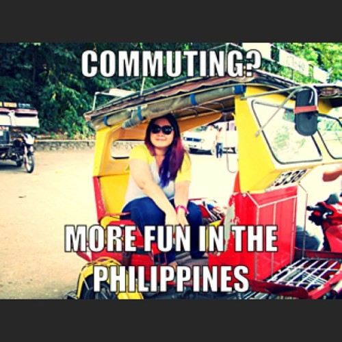 PI homegirl! 😉👊 #meme #itsmorefuninthephilippines #travel #probinsya #selfie #commute #trycicle #colorful