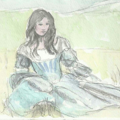 #sketch #watercolor #MaidMarian (at Lair of Azul the BlueDragon)