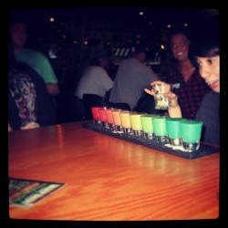 #rainbow #shots from ONE shaker. It was awesome.