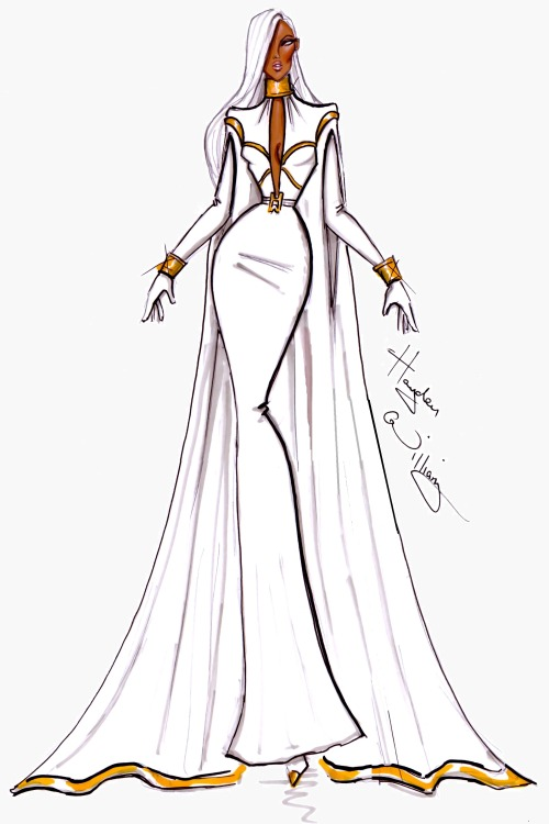 haydenwilliamsillustrations:  Marvel Couture by Hayden Williams: Storm