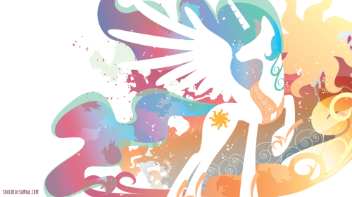 source; http://spacekitty.deviantart.com/art/Celestia-Silhouette-Wall-341637701