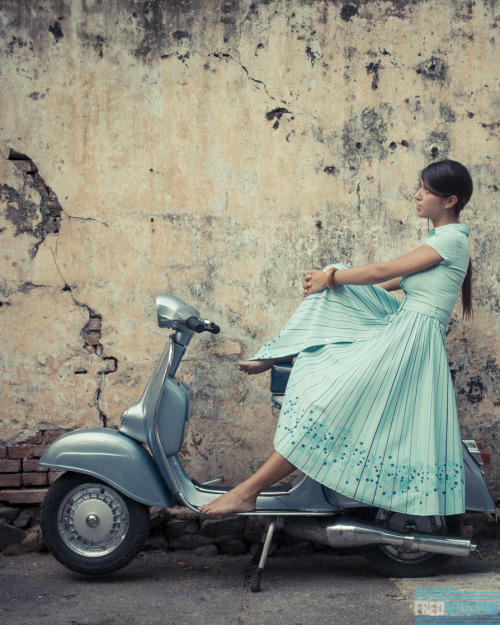Vespa girl. Photo by Frederik Wissink