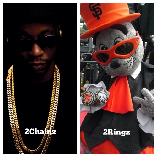 sfgiants:  2Chainz vs 2Ringz