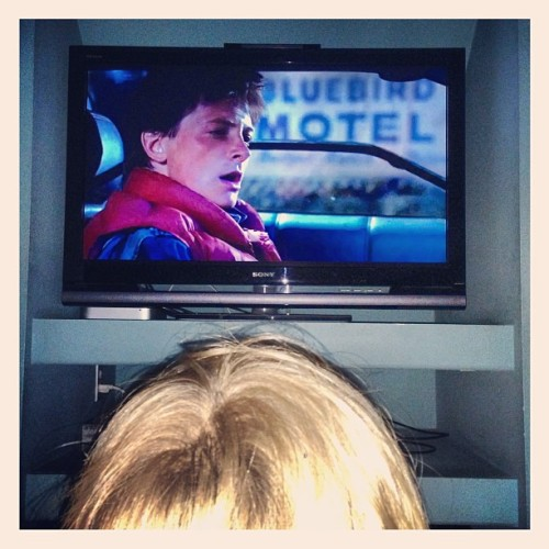 Dorian saw Back To The Future for the first time tonight. Was so rad! Like hearing Nirvana or the Beatles for the first time.