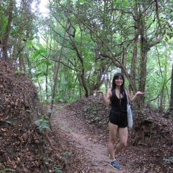 hiking to MegaZip Adventure Park. #sentosa #singapore
