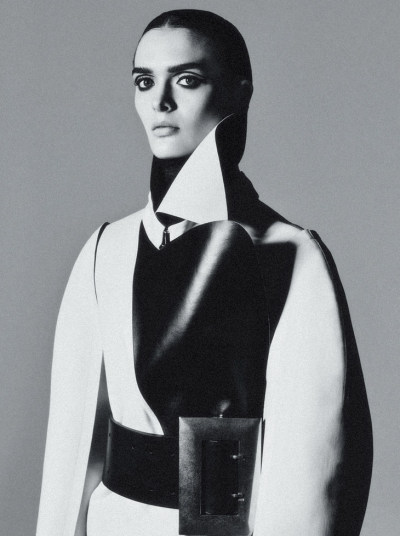 "pradaphne:  Sam Rollinson wears an amazing Calvin Klein Collection coat and a Céline belt in ""Pump up the Volume"", photographed by Kacper Kasprzyk for V Magazine #83."