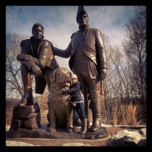 At the Lewis & Clark site in St. Charles