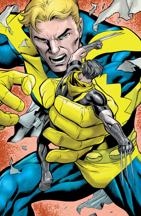 Age Of Ultron: Hank Pym Vs Wolverine // artwork by Carlos Pacheco and Jesus Merino (2013)
