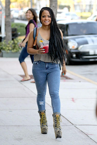 Christina Milian in Miami on Friday