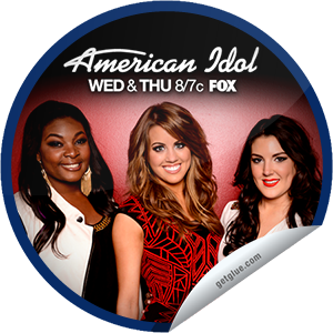 I just unlocked the American Idol: Top 3 sticker on GetGlue                      1327 others have also unlocked the American Idol: Top 3 sticker on GetGlue.com                  Season 12's finalists perform and a finalist is eliminated in a results episode. Thanks for watching! Share this one proudly. It's from our friends at http://americanidol.com and FOX.