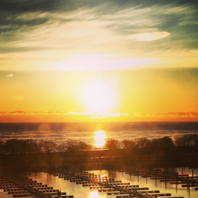 Good morning at the harbor. #chicago #sunrise #lizharbor6