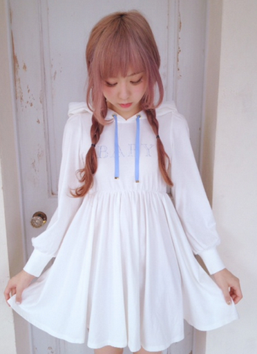 thunder-bunny:  Hooded Babydoll Dress $40
