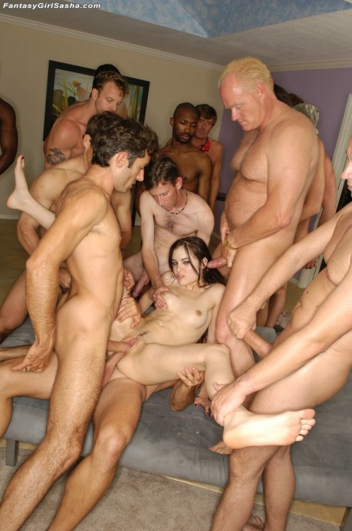 pornwhoresandcelebsluts:  Sasha Grey Gangbang: This is what some lucky bastards do while the rest of us are sitting around jerking off to Tumblr pics in our parents basements