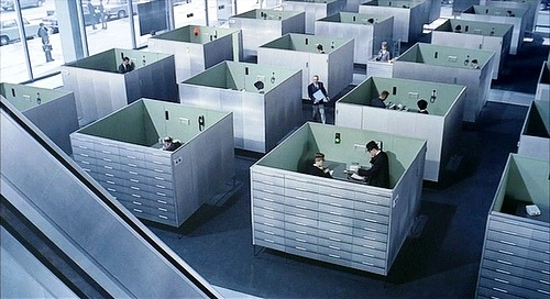 Screenshot from Jacques Tati's film Playtime, 1969