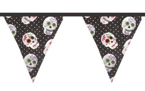 Just Arrived! Our funky day of the dead inspired Fabric Bunting. Only £14.95
