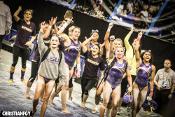 Flick I shot of the 2013 LSU Gymnastics Team