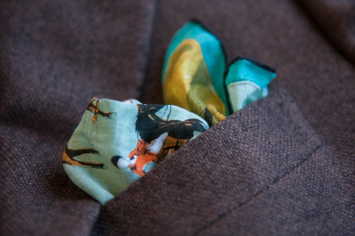 Borrelli Jacket and Vintage Pocket Square