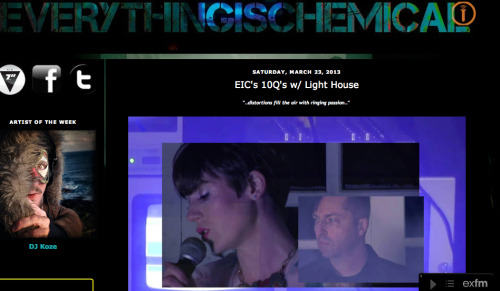 houselight:  Interview for Everything is Chemical