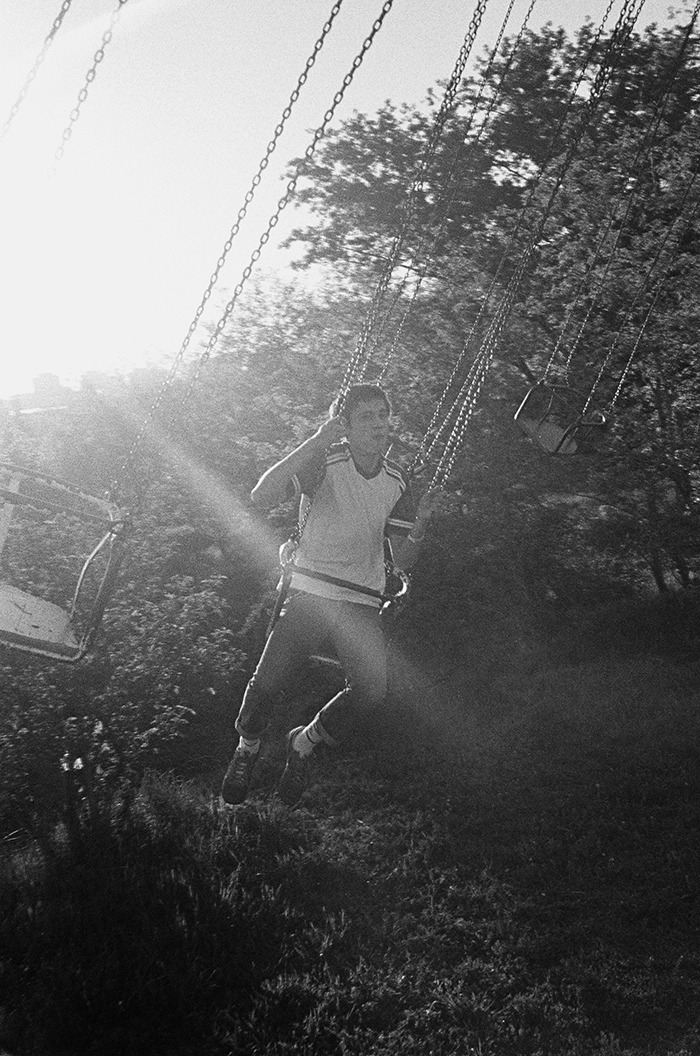 Milos on a swing in Belgrade