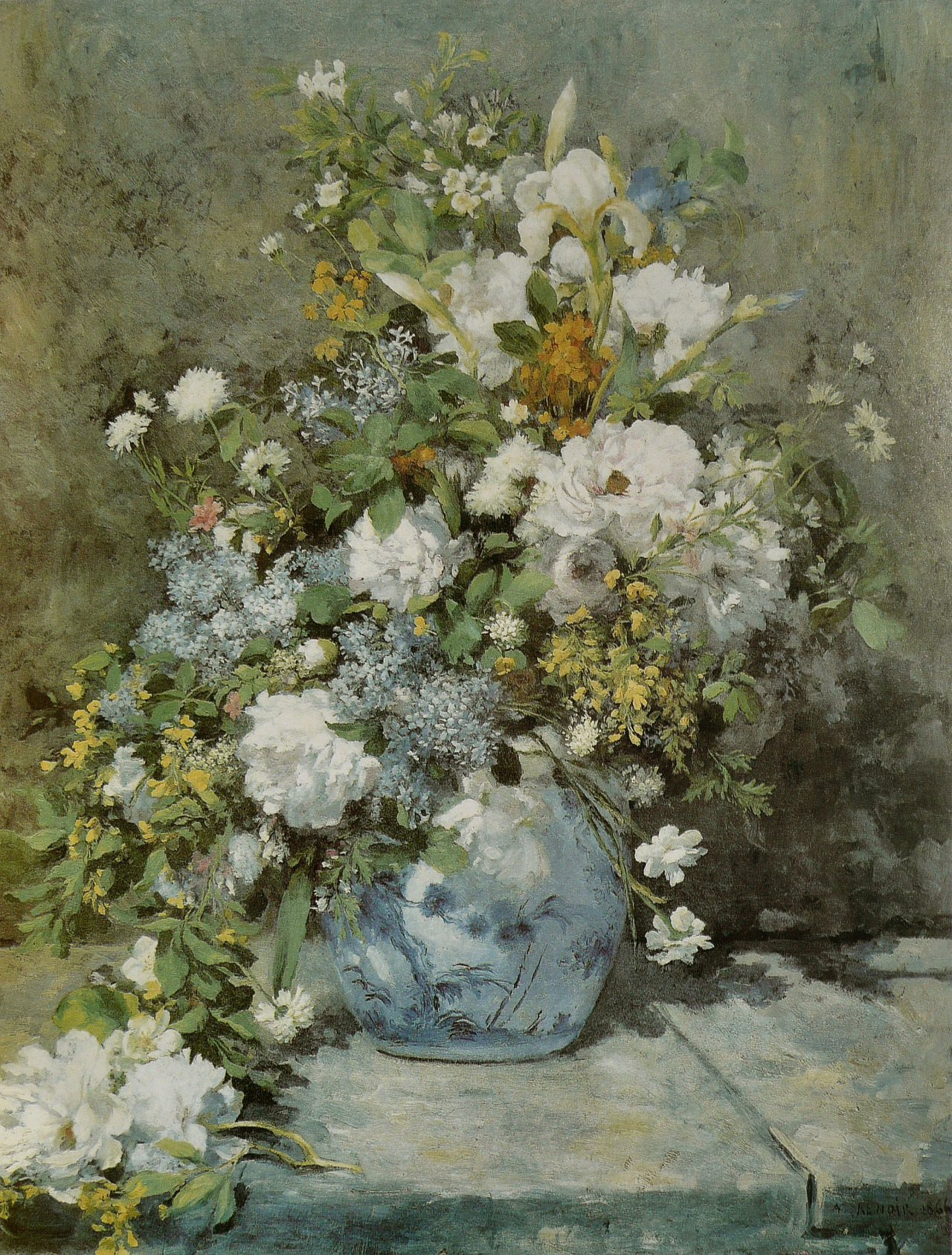 heaveninawildflower:  Spring Bouquet (1866) by Pierre-Auguste Renoir (1841–1919). Fogg Art MuseumCambridge, Massachusetts via Wikimedia.