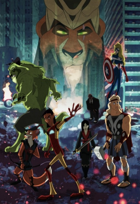 ashbet:  iraffiruse:  Disney Avengers  I LOVE EVERYTHING ABOUT THIS.