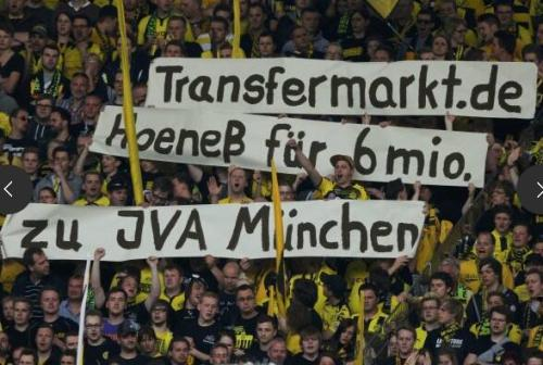 the-elentari:  transfermarkt.de Hoeness for six million to JVA Munchen (Prison)