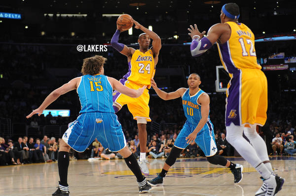 Kobe Bryant - For the 3rd straight game, @kobebryant is on #TripleDouble watch. 10pts, 10asts & 7reb