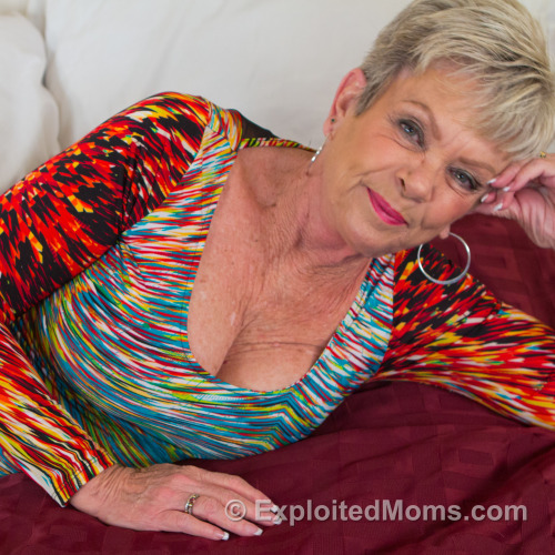 Granny Loves Black Cock in Gilf Creampie Video We decided shoot this 65yr older women in a creampie video.  One thing you dont have to worry about when doing a creampie with a Gilfs is getting them pregnant!Dwise was all excited to shoot this granny. And when she pulled her dress top down out came these 34D breasts. She played with them teasing him with her nipples until Dwise begged for her to go down on his Black Cock. This gilf began twisting and sucking him off, you could see her mouth was wet because some spit fell out and travelled down his cock. She seemed all worked up giving him head so it was off to the races when dwise got ontop to fuck that mature pussy. She was very vocal on what she liked and asked more of. She said pump me just like that your cock is hot! This Granny was getting her shit off! It was time for granny to ride so she got ontop and bounced her ass up and down , it was like she had never ending energy , she just kept going and going. I think she may have tired out my young cub, As Dwise said he was ready to cum inside her. He let loose and ripped a few shots of cum inside her pussy. She moaned in pleasure as she was getting filled up. I went for a close up on her pussy so you could see all the white goo slowly drip out of her. This mom stuck her fingers inside her oozing pussy and licked her fingers off. This granny got served a creampie delight! Full Movie Now Playing at Exploited Moms