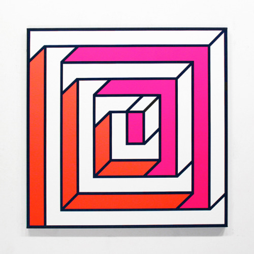 """Duality I"" by Aakash Nihalani acrylic on canvas 36 inches x 36 inches x 1.75 inches  Jonathan LeVine Gallery"