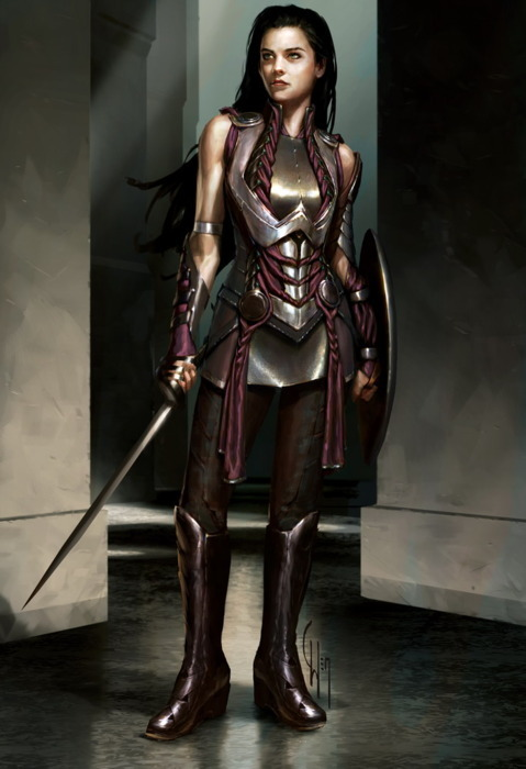 """SIF"" Concept art by Charlie Wen for the Marvel movie Thor."