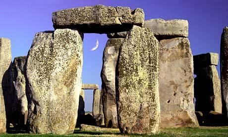 "Stonehenge may have been burial site for Stone Age elite, say archaeologists Dating cremated bone fragments of men, women and children found at site puts origin of first circle back 500 years to 3,000BC Centuries before the first massive sarsen stone was hauled into place at Stonehenge, the world's most famous prehistoric monument may have begun life as a giant burial ground, according to a theory disclosed on Saturday. More than 50,000 cremated bone fragments, of 63 individuals buried at Stonehenge, have been excavated and studied for the first time by a team led by archaeologist Professor Mike Parker Pearson, who has been working at the site and on nearby monuments for decades. He now believes the earliest burials long predate the monument in its current form. The first bluestones, the smaller standing stones, were brought from Wales and placed as grave markers around 3,000BC, and it remained a giant circular graveyard for at least 200 years, with sporadic burials after that, he claims. It had been thought that almost all the Stonehenge burials, many originally excavated almost a century ago, but discarded as unimportant, were of adult men. However, new techniques have revealed for the first time that they include almost equal numbers of men and women, and children including a newborn baby. ""At the moment the answer is no to extracting DNA, which might tell us more about these individuals and what the relationship was between them – but who knows in the future? Clearly these were special people in some way,"" Parker Pearson said.  Read more here."