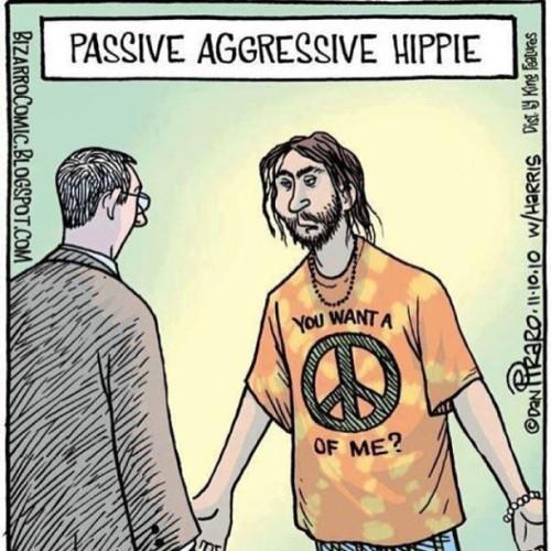 Lol. #hippie #war #aggressive #funny #lol