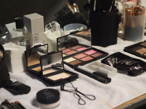 NARS goodies used to create the look.
