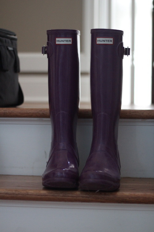 hunter boots are perfect