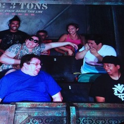 Could of sworn there were three of us (at The Twilight Zone Tower of Terror)