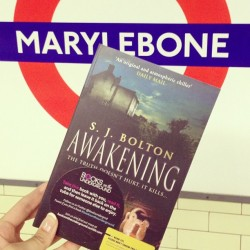 Get an 'Awakening' this morning by S.J Bolton. A copy lies at Marylebone Station #booksontheunderground