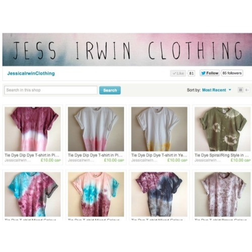 jessicairwin:  Check out my new etsy shop for my unique tie dye & dip dye t-shirts. www.jessicairwinclothing.etsy.com  Various styles available, I take custom orders, choose any style and colour you like. All £10. Perfect gift for any guy or girl. Follow me for more updates on new styles. I post a lot of my stuff on instagram which is @jessirwin so please follow me on there! To contact me about an order or just to ask a question, email me at jessicamayirwin@gmail.com please reblog and tell all your friends, much appreciated! xxx