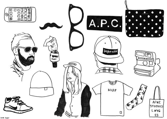 Hipster GOLD! drawings based on what I see on tumblr almost every single freaking day