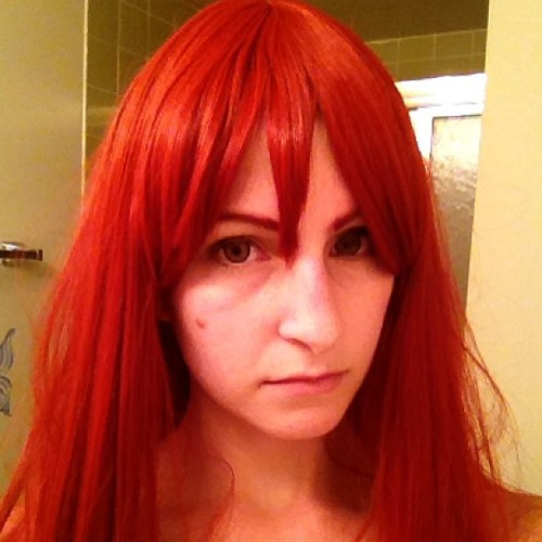 #Erza make up test! #cosplay #wip #fairytail