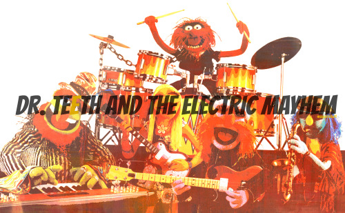 """We am, is, are and be, they who am are known as, The Electric Mayhem!"""