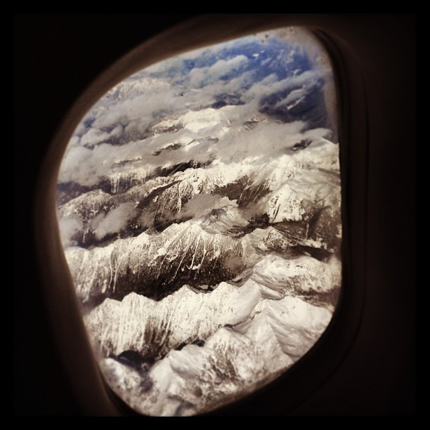 The best way to see Rockies. #aircanada #rockies #theviewfromuphere #iphonephotography