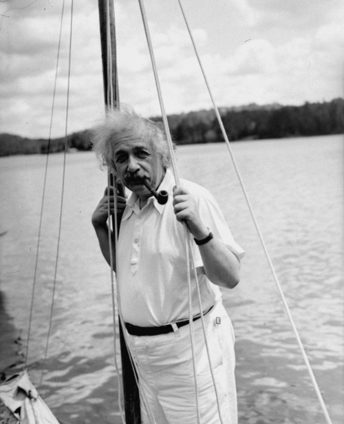 thisisbandofoutsiders:  Albert Einstein in a vintage polo.