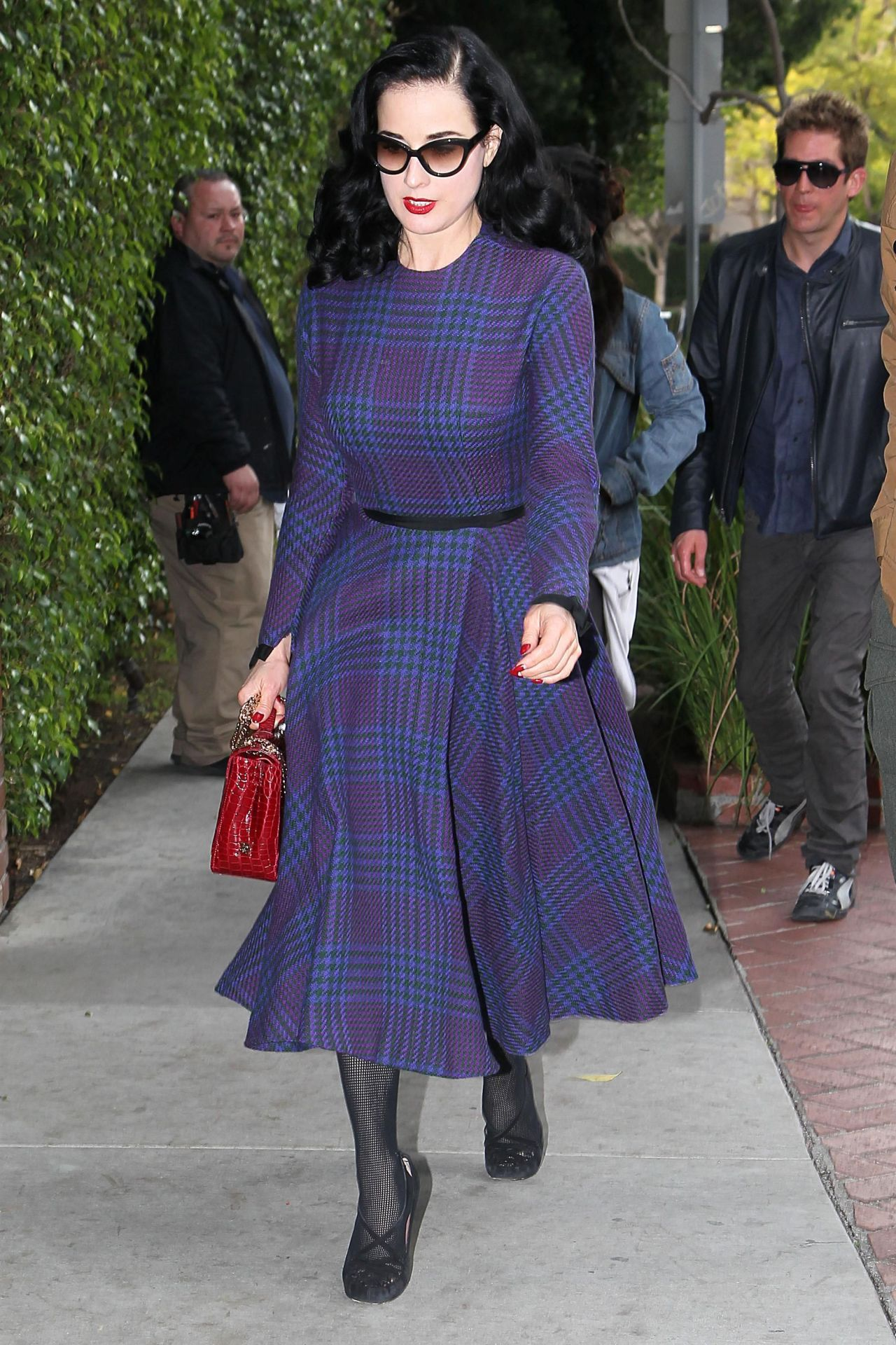 Dita Von Teese out in LA, February 10th
