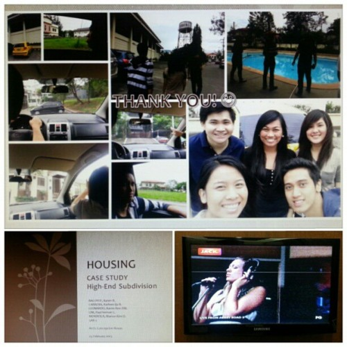 am.02.23.2013 Last group project in #college ;) @pobens @mushroomkaboom @kaeleonardo @MarionMendiola #2013 #photoblog I missed doing a #PowerpointPresentation with all the effects, transitions, and #animations #housing Haha :D No #myx = #LiveFromAbbeyRoad 5 emotional #songs of #ColbieCaillat for the background #music ♥ Haha! Good #mornight friends! ;) See you later #kae! ;) #karen;) #ija #vernon #marion #5AR-2 #memories #arkitektwo #roadtrip #grouppic #ppt  #buhayarki #friends #event #maamconnie #SiteVisit ;) (at Vista Real Classica)