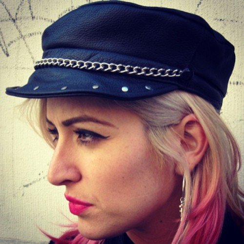 Just got these leather biker hats in! Hat adjusts in the back so one size fits all. TUFF.